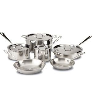 All Clad 10 piece stainless steel cookware set